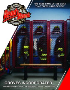 Front cover of the 2020 Groves Ready Rack Fire Catalog